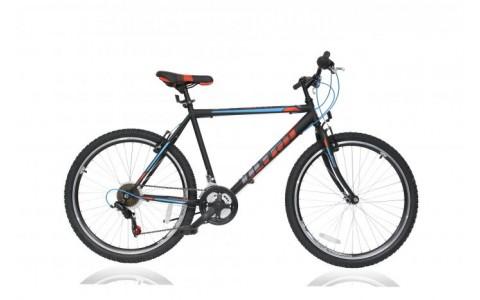 Bicicleta Ultra Storm, 480mm, 26inch, negru-albastru-portocaliu