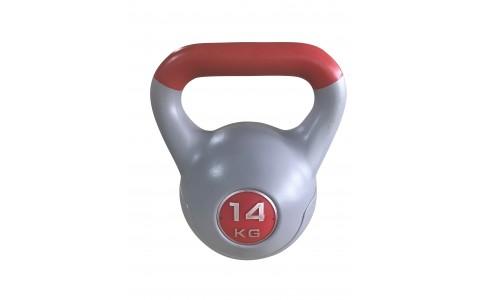 Gantera Kettlebell Neagra, Rega Fitness, 14KG