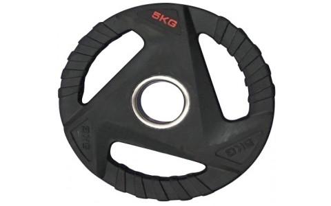 Disc olimpic cauciucat, 3 manere de prindere, Rega Fitness, 5kg