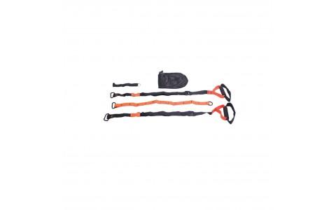 Coarda de suspensie pentru antrenament, culoare portocaliu cu negru, varianta basic