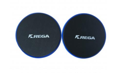 Disc pentru stabilitate,negru cu albastru, Rega Fitness