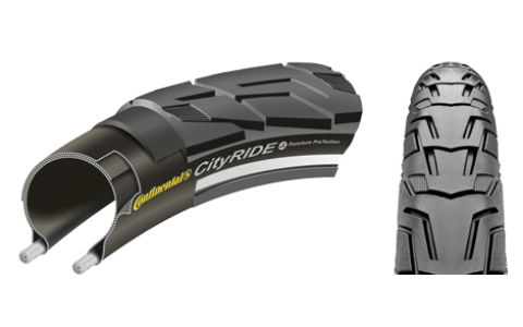 Anvelopa Bicicleta, Continental, CityRide II Reflex, Puncture-ProTection, 37-622, 28x1 3/8x1 5/8, 2014