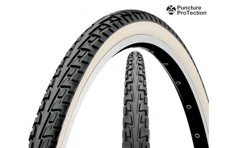 Anvelopa Bicicleta, Continental, Tour Ride Puncture-ProTection, Negru-Alb, 47-559 (26x1,75), 2014
