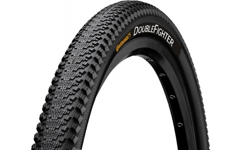 Anvelopa, Continental, Double Fighter III, 27.5x2.0, 3ply/180 TPI, Sport, Negru