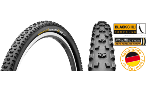 Anvelopa Bicicleta, Pliabila, Continental, Mountain King 2 ProTection BlackChili, 27.5x2.2, 55-584, 2014