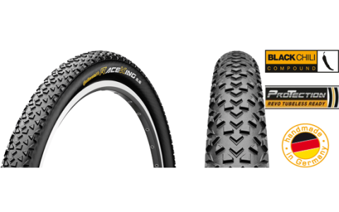 Anvelopa Bicicleta, Pliabila, Continental, RaceKing 2, 27.5x2.2, 55-584, ProTection BlackChili, 2014