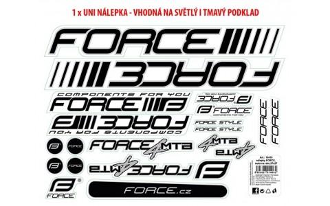 Autocolante Cadru MTB, Force, Logo, 37x27 cm