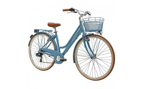Bicicleta Dama Adriatica City Retro Donna 28 albastra 45 cm