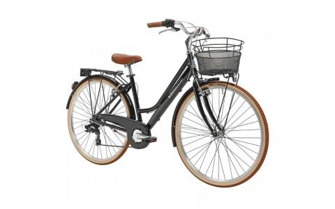 Bicicleta Dama Adriatica City Retro Donna 28 neagra 45 cm