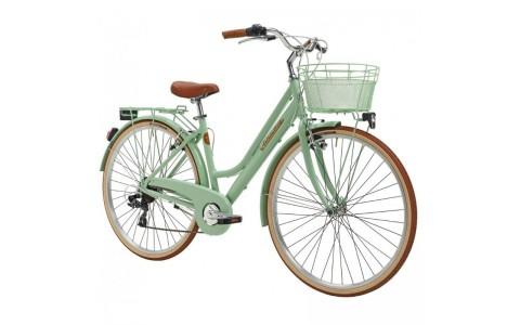 Bicicleta Dama Adriatica City Retro Donna 28 verde 45 cm