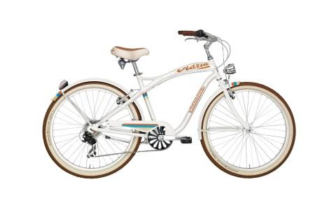 Bicicleta Cruiser, Adriatica, Aluminiu, Alb, Cadru 450 mm, Roti 26 inch, 2016