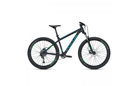 "Bicicleta MTB, Focus, Bold Evo 9G, Negru-Albastru-Verde, 27.5"", 42 cm"
