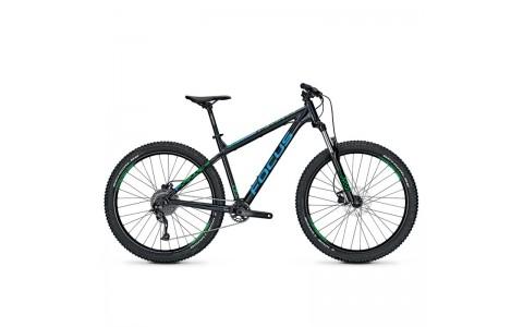 "Bicicleta MTB, Focus, Bold Evo 9G, Negru-Albastru-Verde, 27.5"", 46 cm"