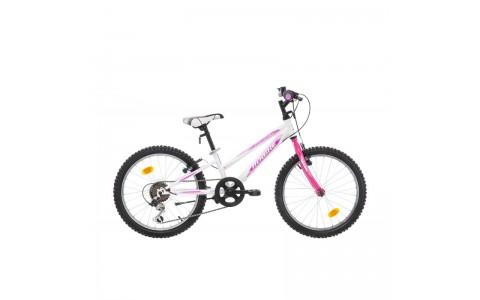 Bicicleta Robike Calipso 20 alb/roz 2017