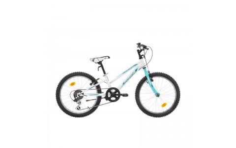 Bicicleta Robike Calipso 20 alb/verde 2017