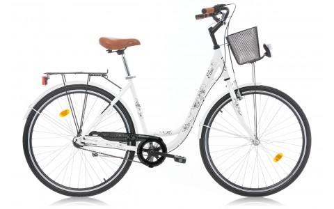 Bicicleta Oras,Dama, Robike, Elise N3, Cadru Otel, Jante 28 inch, Alb, 2016