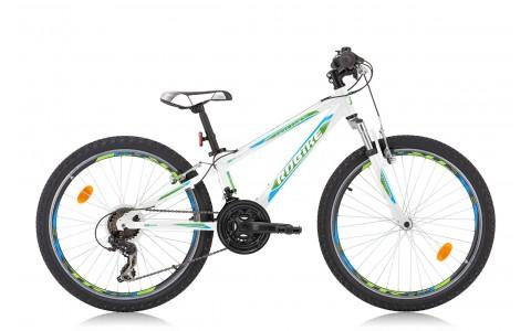 Bicicleta Copii, Robike, Hat Trick, 24 Inch, Alb-Verde-Albastru, 2016