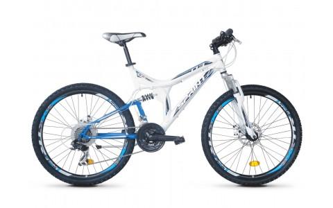Bicicleta MTB, FUll Suspension, Robike, Hunter, Jante 26 inch, DD, Alb-Albastru 2016