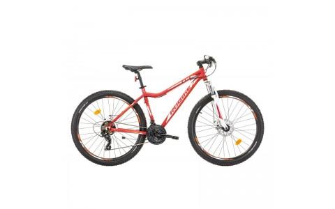 Bicicleta MTB Dama, Robike Hunter 27.5 rosu/alb 2017-480 mm