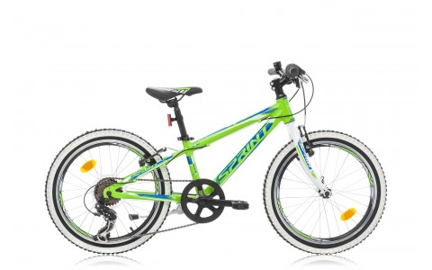 Bicicleta Copii, Sprint, Apolon, Jante 20 inch, Verde-Albastru-Alb, 2016