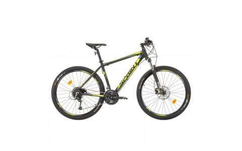 Bicicleta Sprint Apolon Pro 27.5 negru mat/verde lime 2017-480 mm