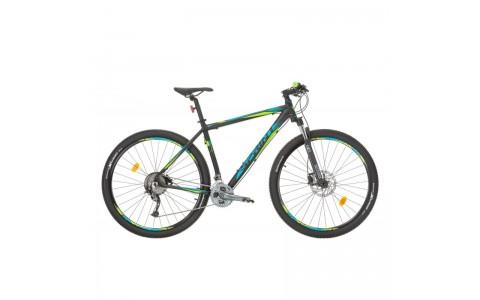 "Bicicleta MTB, Sprint, Apolon Pro LTD, Negru-Albastru-Verde, 29"", 520 mm"