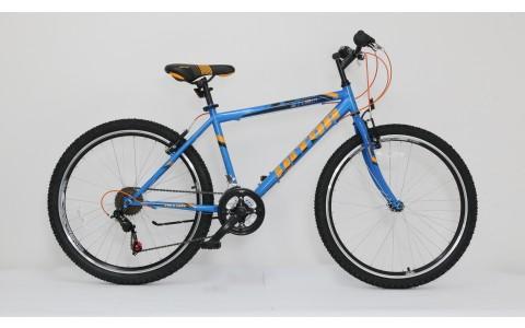 Bicicleta Ultra Storm, 480mm, 26inch, albastru-portocaliu