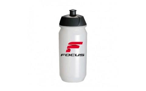 Bidon apa FOCUS CLASSIC 500ml alb/negru/rosu