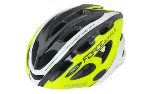 Casca Ciclism, Force, Buffalo, Fluorescent-Negru-Alb, L-XL