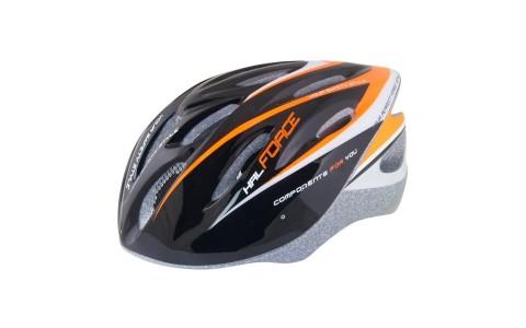 Casca Bicicleta, Force, Hal, Negru-Portocaliu-Alb, Marime L-XL, Reflectorizant