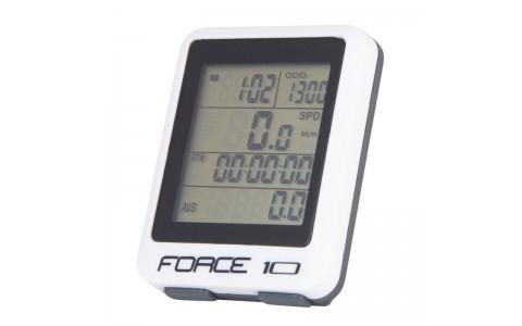 Ciclocomputer Force 10F cu fir alb