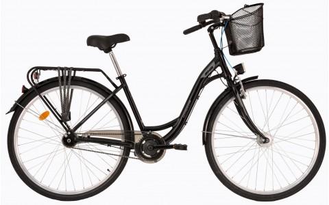 Bicicleta Oras, Dama, DHS CITADINNE 2838 (2017) Negru, 28 inch, 430mm