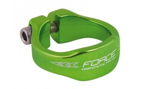 Colier Bicicleta, Force, 34.9 mm, Aluminiu, Verde