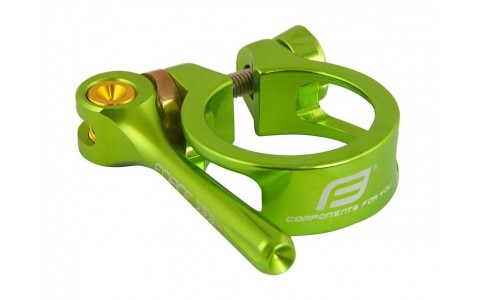 Colier Bicicleta, Force, cu Clema, 34.9 mm, Aluminiu, Verde