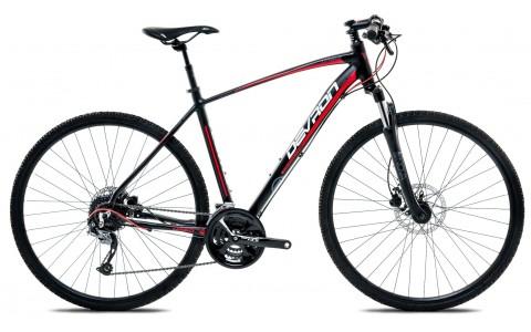 Bicicleta Oras, Devron, Cross K3.8, Negru-Rosu, Cadru Aluminiu, Janta 28 inch