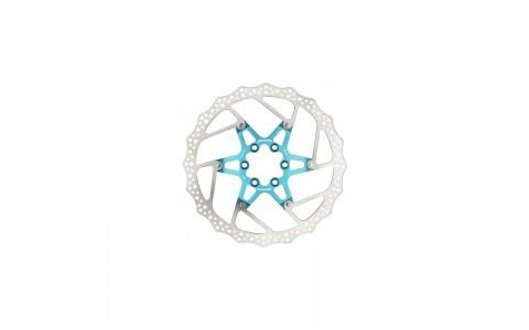 Disc frana Reverse Discrotor 180mm aluminiu/otel albastru deschis