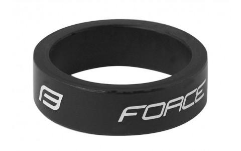 Distantier Furca Bicicleta, Force, 1.1/8 inch, 10 mm, Negru