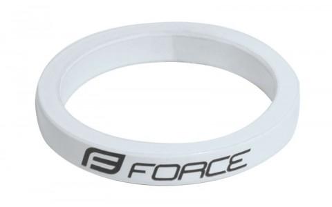 Distantier Furca Bicicleta, Force, 1.1/8 inch, 5 mm, Aluminiu, Alb