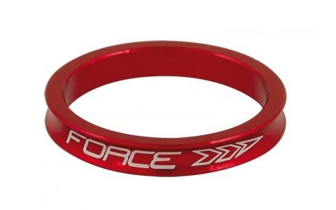 Distantier Furca Bicicleta, Force, 1.1/8 inch, 5 mm, Aluminiu, Rosu