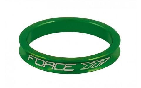 Distantier Furca Bicicleta, Force, 1.1/8 inch, 5 mm, Aluminiu, Verde