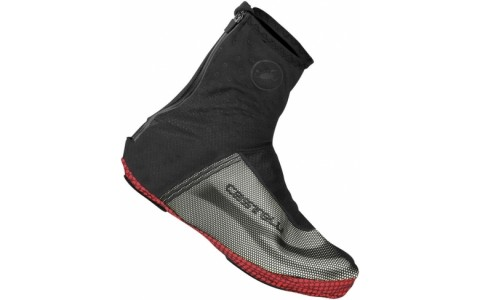 Huse Pantofi, Iarna, Castelli, Estremo 2, Shoecover, Negru-Alb-Rosu, S, 39-40