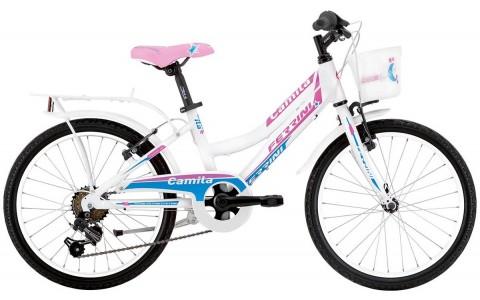 Bicicleta Copii, Ferrini, Camilla, Aluminiu, Alb, 20 Inch, 6V