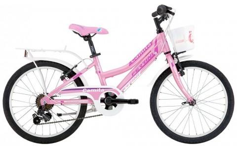Bicicleta Copii, Ferrini, Camilla, 6V, Roz, 255 mm, 20 inch