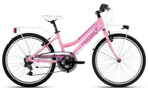 Bicicleta Copii, Ferrini, Camilla, Aluminiu, Roz, 24 Inch
