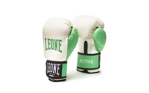Manusi Box Pentru Femei, Leone, GN076-04, Active Lady, Alb, PU, Marime M