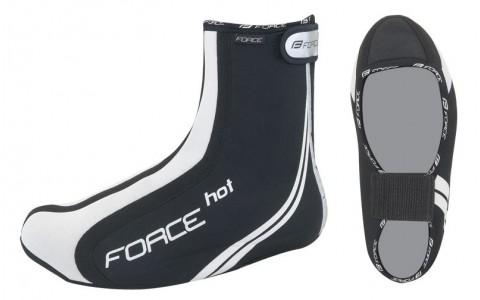 Huse Pantofi Ciclism, Force, Hot, Neopren, Negru, S