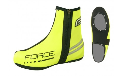 Huse Pantofi Ciclism, Force, Neopren, Fluorescent