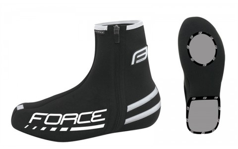 Huse Pantofi Ciclism, Force, Neopren, Negru