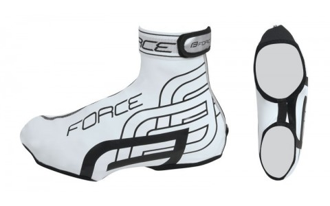 Huse Pantofi Ciclism, Impermeabile, Force, Rainy, Alb, M