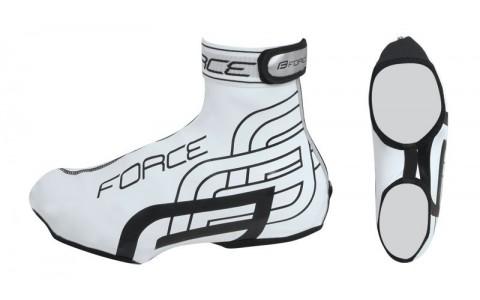 Huse Pantofi Ciclism, Impermeabile, Force, Rainy, Alb, S